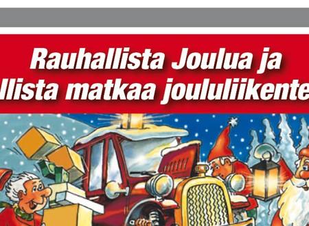 Hyvää joulua ja turvallista matkaa joululiikenteessä!