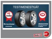 Bridgestone ja Firestone menestyivät testeissä